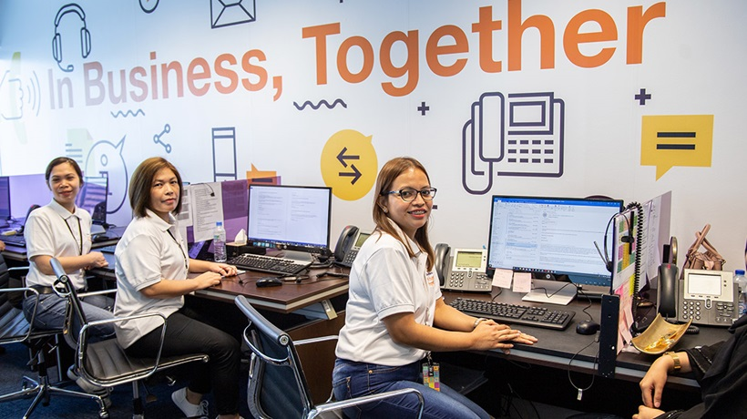 QFC call centre team at their workstations